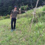 ハコネエコビレッジで農作業(きゅうりの支柱立て、草刈り)(2015/06/07)