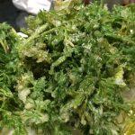 【自然農の人参の葉の天ぷらと、人参・里芋・長ねぎの芋煮】