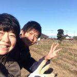 【自然農の畑@龍ケ崎にお客さん】(2016/01/22)