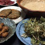 【自然農の菊芋の芋餅と素揚げ】