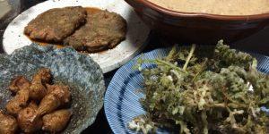 自然農のお野菜の料理