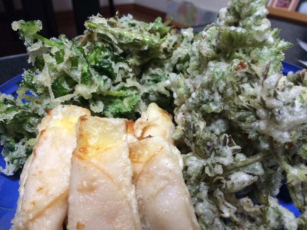 のらぼう菜の天ぷら
