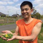 【遠山さんとスナップエンドウの収穫、かぼちゃとさつまいもを植える】(2016/04/26)