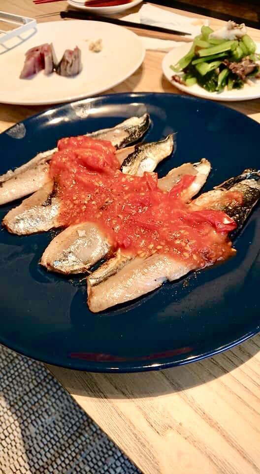 秋刀魚のソテートマトソース