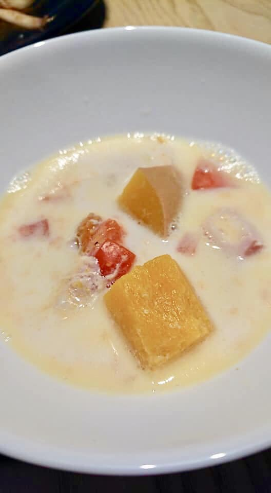 バターナッツかぼちゃと安納芋のスープ