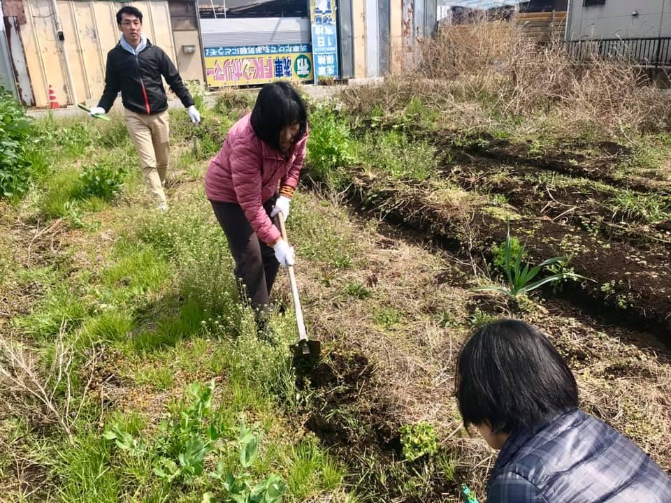 畝の整備をしているところ(1)