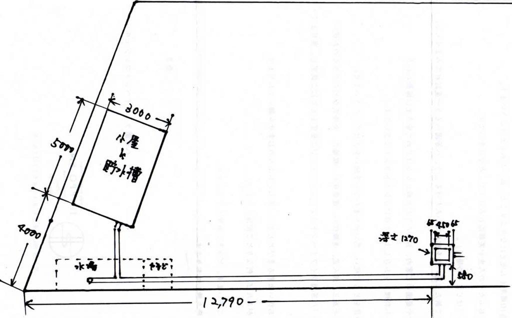 貯水槽平面図
