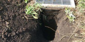 穴掘り後の状態