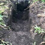 【貯水槽建設】穴掘りしました
