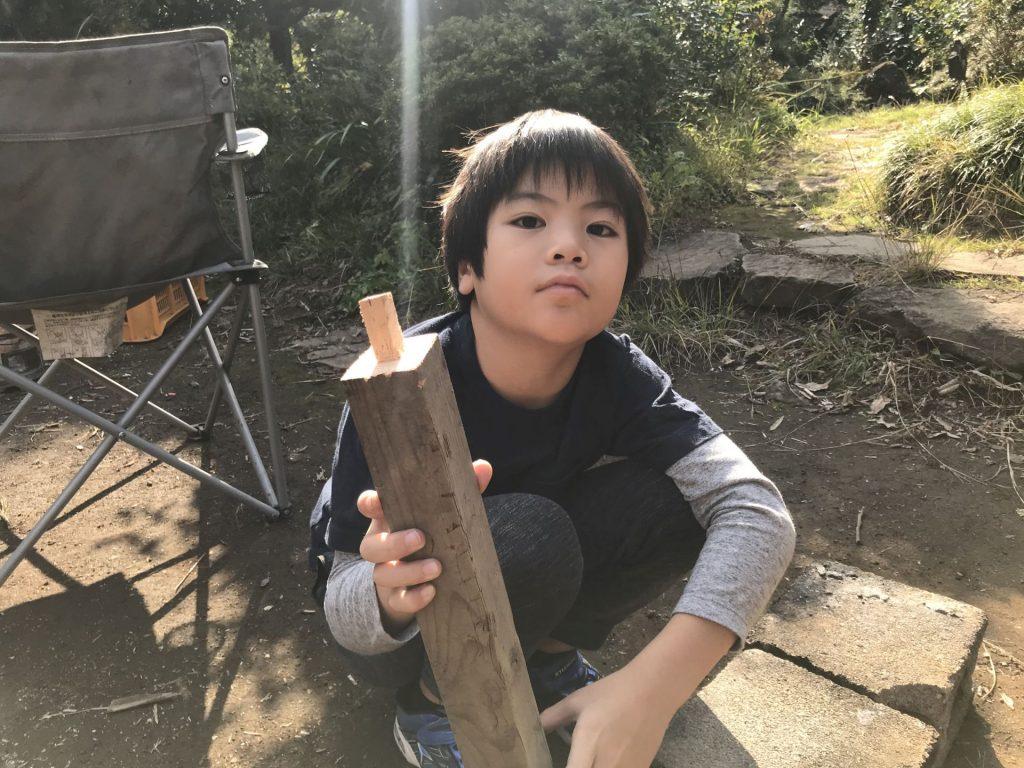 初めてのホゾ作り、うまくできました♪