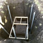 【貯水槽建設】柱が2本増えました(2020/01/09)