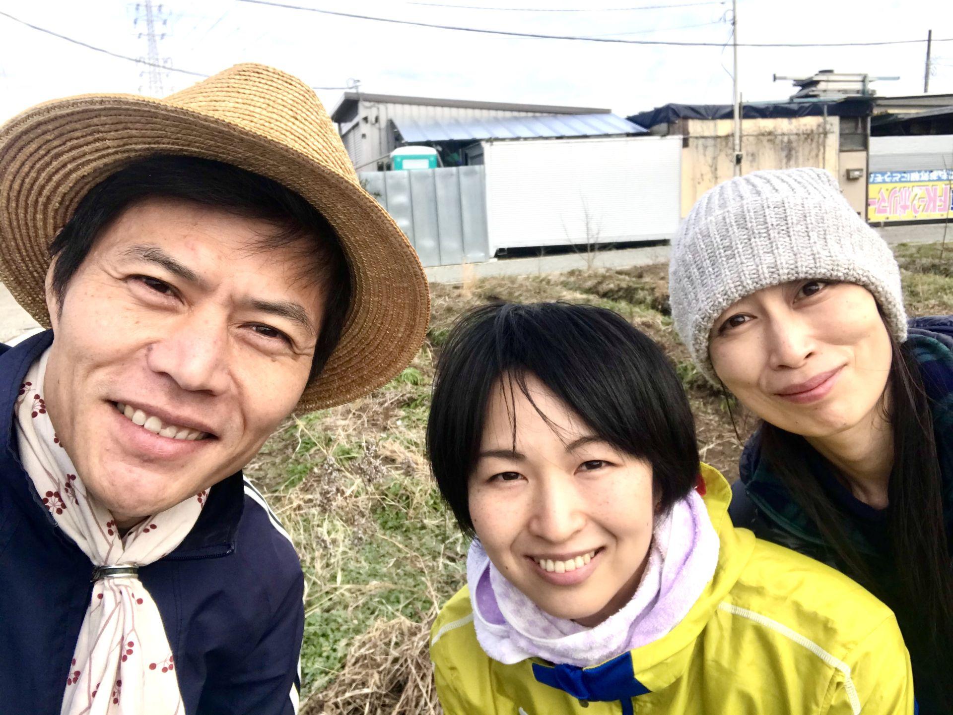 自然農体験を終えて記念撮影♪