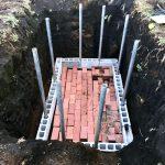 【貯水槽建設】排水口できました(2020/02/05)