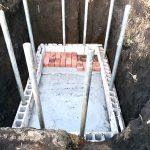 【貯水槽建設】壁一段目&基礎のモルタル完了(2020/02/07)