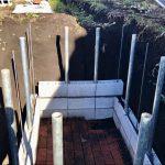 【貯水槽建設】3段目を積み始めました(2020/02/18)