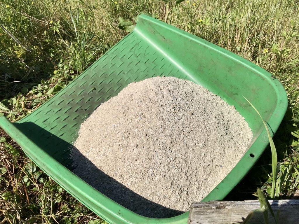 手箕に移した肥料